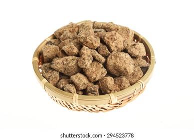 Brown Sugar in a bamboo basket