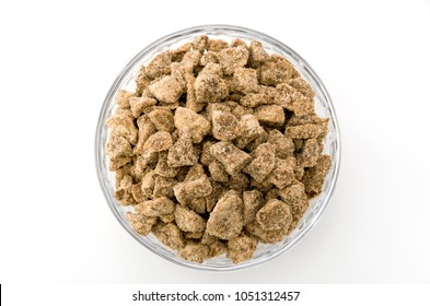 brown sugar in glass bowl