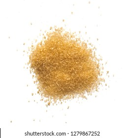 brown sugar isolated and scattered on white background