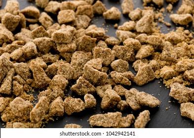 brown sugar on stone plate