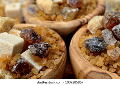 brown sugar on wooden table