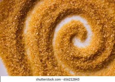Brown sugar swirl background. Top view