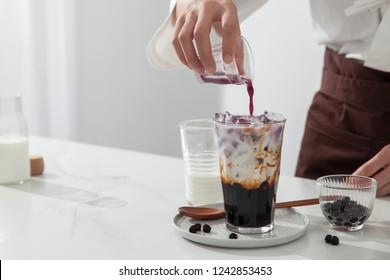 Brown sugar vanilla pearl milk tea
