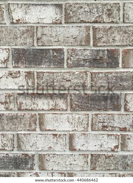 Brown and tan brick