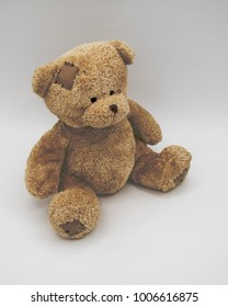 brown teddy bear from above