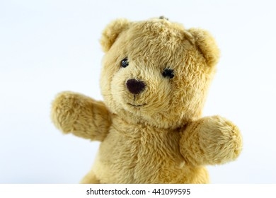 brown teddy-bear isolated on white background