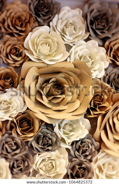 Brown Texture Background Rose Wallpaper Decoration