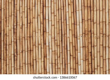 brown tone bamboo plank fence texture for background