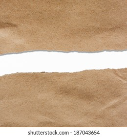 brown torn paper with copyspace for your text