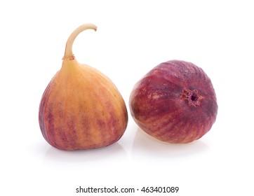 Brown turkey fig on a white background