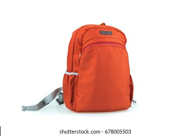 brown unisex backpack isolated on white background