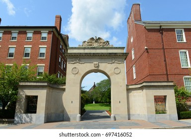 Brown University main gate, Providence, Rhode Island, USA.