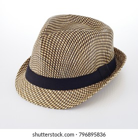 Brown Vintage Hat on white background with clipping path