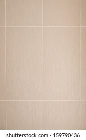 Brown wall tile texture background. Bathroom or kitchen wall