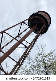 Brown Water tower from below