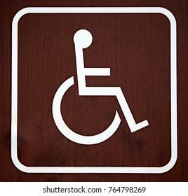 Brown wheelchair sign