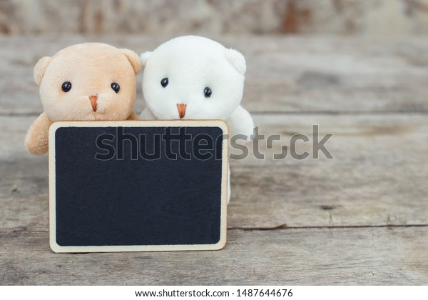 Family Of Bears In the Woods Picture With Dark Brown Frame.
