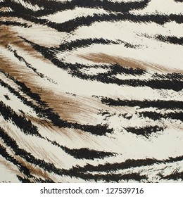 Brown and white tiger skin artificial pattern background.