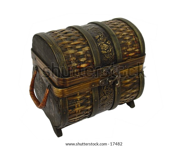 Brown Wicker Box