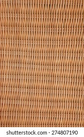 Brown Wicker Rattan Texture Vertical Background Close-up Detail Picnic Basket