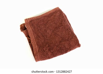 Brown wipes Blank on a white background