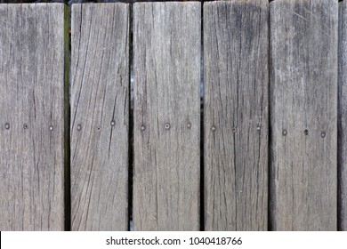 Brown wood has nails floor for background and wallapaper