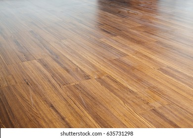 brown wood laminate floor varnish interior in modern home design
