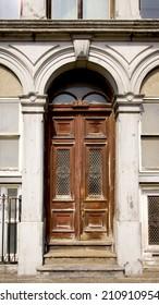 a brown wood old door