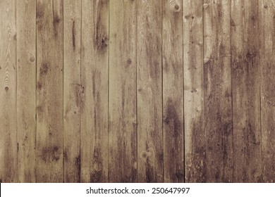 Brown wood plank wall texture background, instagram filter