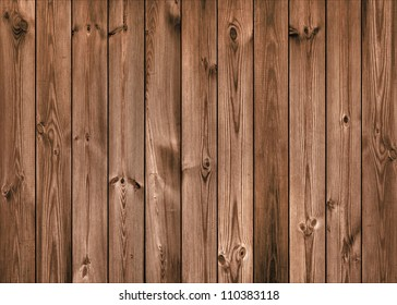 Brown Wood Planks as Background or Texture, Natural Pattern
