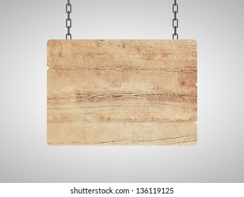 brown wood plate on chain