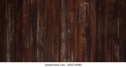 Brown wood texture background or old brown wood panel with natural wood pattern.