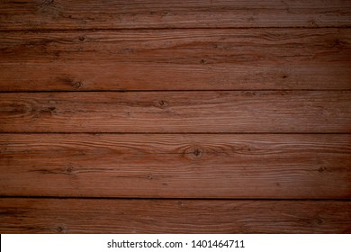 Brown wooden background. Wooden texture. Horizontal wood boards.