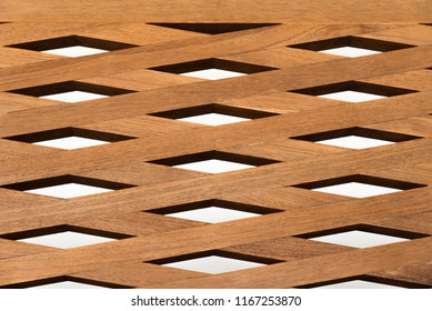 Brown wooden fence isolated on white background
