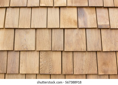 Brown wooden roof.shingles.