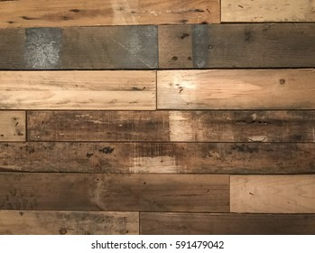 Brown wooden scaffolding wall texture background