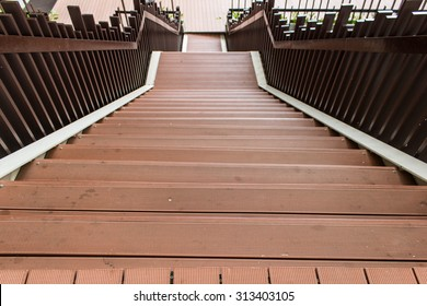 Brown wooden staircases