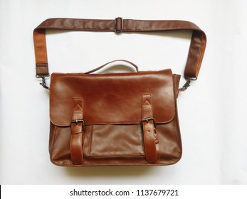 Brown Working Casual Leather Bag (Sling)