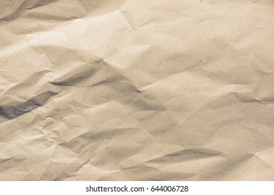 Brown wrinkle recycle paper texture and background