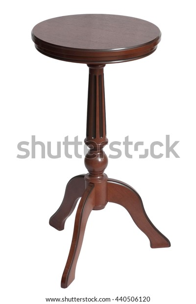 browne round coffee table retro on a white background