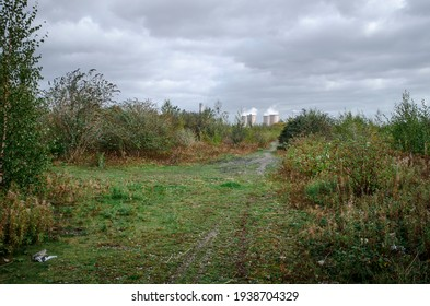 Brownfield land and distant coal fired power station