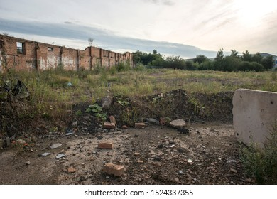 Brownfield land, former site of industrial waste and scrap processing works, West Midlands, UK