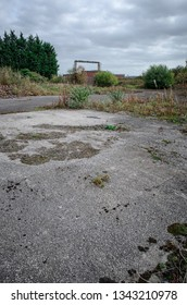 Brownfield land, site of former chemical factory recently demolished