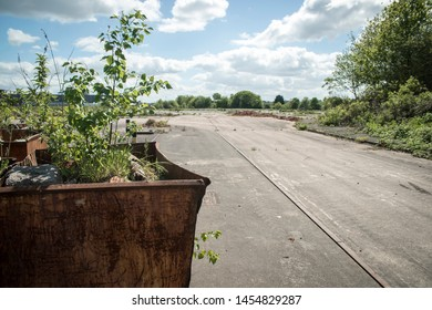 Brownfield land, site of recently demolished factory complex, West Midlands