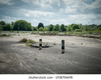 Brownfield land, site of recently demolished large factory