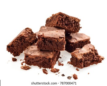 Brownie pieces, close up