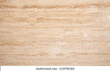 Brownish Yellow Travertine Stone Close Up