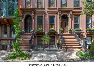 Brownstone building in Brooklyn Heights, Brooklyn, New York City