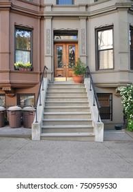 Brownstone Home Entrance Brooklyn USA