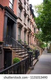 Brownstone houses in New York city (Brooklyn)